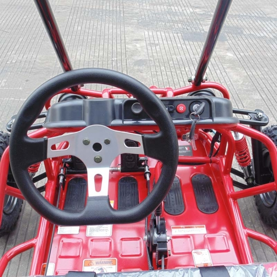 Mini Gas Go Kart For Kids With Reverse Red