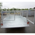Aluninum 7x5 Trailer Box With Cage