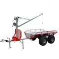 Small Log Trailer With Crane