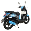 China Best 125cc Moped Scooter Blue