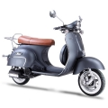 Classic Vespa Like Scooter Gas Moped Sliver