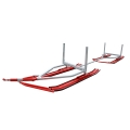 Tandem Timber Ski Sleigh For ATV UTV Snowmobile